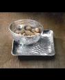 Handscart Vintage house aluminium  decorative bowls vintage gold hammered  brass pedestrial centrepiece bowl.