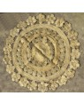 Handscart Handcrafted Chindi Jute Round Colorful Natural Jute Chindi Sisal Woven Area Braided Rug Boho Bohemian Indian