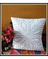 Amounee Design Single Decorative  Cushion Cover 16x16 Abstract Applique  Work Pillow Covers Attractive Cotton Throw Pillow