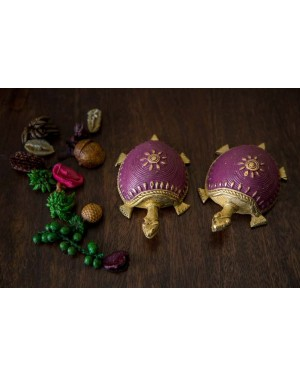 Dhokra Tortoise Table Top Set- Different Shades of Purple