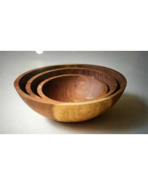 Ecofriendly Bamboo Classic Wooden handcrafted Bowl Set- Set of 3  Board/Serving Platter, with Bamboo and  crafted by natural woods.