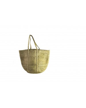 Handscart Handcrafted Boho Design Women's Tote Bags withEcofriendly jute for all purpose.(Long Pot_Jute )