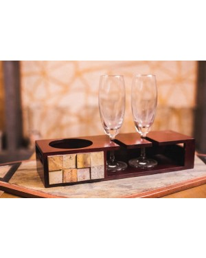 Champagne Tray Small With Glasses