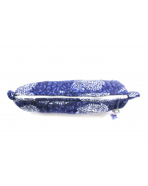 Natural Fabric eco block printed pouches with inner plastic coted for bathroom, travelling with natural block printed cotton fabric for multipurpose.