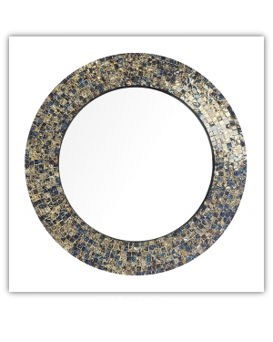 Bedroom or Bathroom Round frame Hangs Horizontal & Vertical  By Vintage Hammered Craft. (Only Frame)
