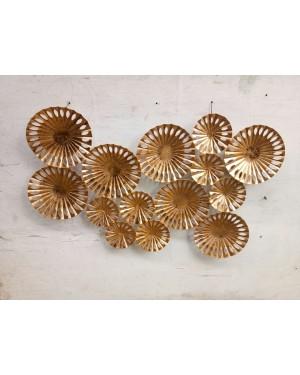 Handcrafted Old Brass Copper 6 Pcs Sunburst Golden  Color Handmade Metal Wall Art Sculpture  Wall Decor And Hanging