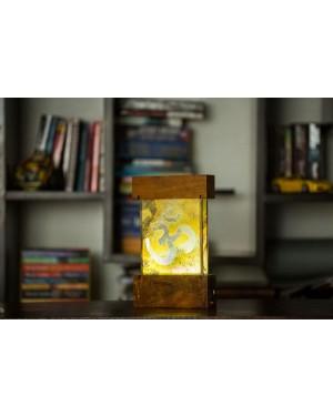Om Design Lamp With Stone Veener
