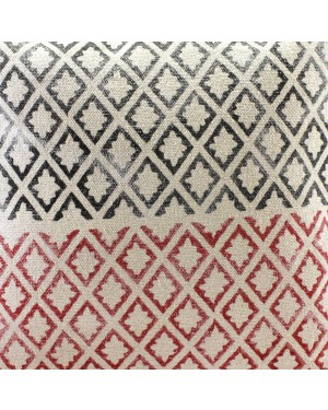 Handscart Handmade Contrast Color 100% Handweave Boro Stripe Design Cotton Cushion Cover Pack of 1 Pcs ( 22x22 inch) Front-Cotton Rug & Back- Cotton