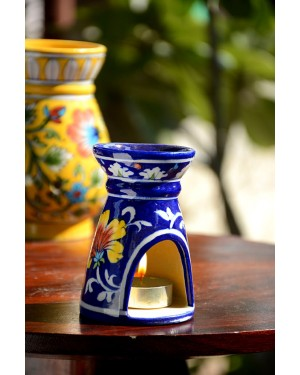 Handmade Blue Pottery Oil Diffuser/Oil  Burner BlueColour  6 inches