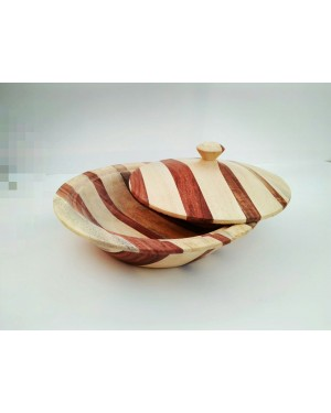 Ecofriendly Bamboo Classic Wooden handcrafted Serving bowl with lid Board/Serving Platter, with Bamboo and  crafted by natural woods.