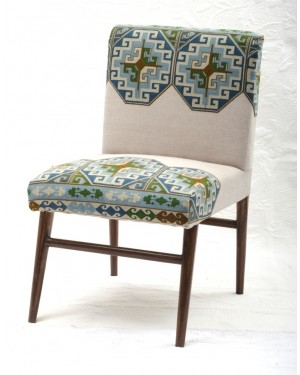 Vintage Kantha Patchwork Upholstered  Sofa Chair in Melody Patchwork Multi Arm  Chair Vintage Kantha Sofa Patchwork Chair