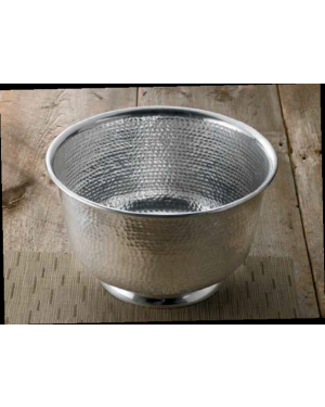 Handscart Vintage house brass aluminium  decorative bowls vintage silver hammered  brass pedestrial centrepiece bowl.