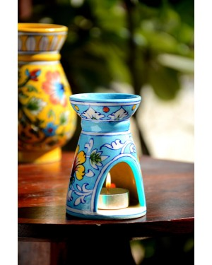 Handmade Blue Pottery Oil Diffuser/Oil  Burner Turquoise Colour  6 inches