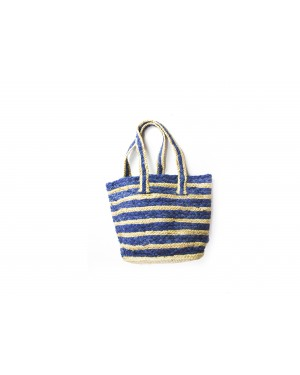 Handscart Handcrafted Boho Design Women's Tote Bags withEcofriendly jute for all purpose. Blue_Jute )