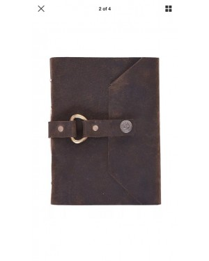 Eco Leather Leather Journal Diary Writing Notebook with Bio Recycled handmade papers, Personal Travel Diary Unlined Paper Sketchbook