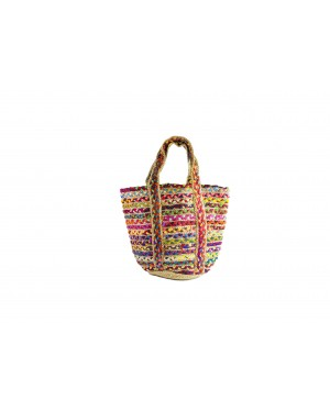 Handscart Handcrafted Boho Design Women's Tote Bags withEcofriendly jute for all purpose.(Holi Jute_Jute )