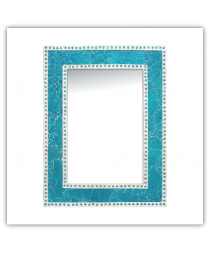 Bedroom or Bathroom Rectangular frame Hangs Horizontal & Vertical  By Vintage Hammered Craft. (Only Frame)