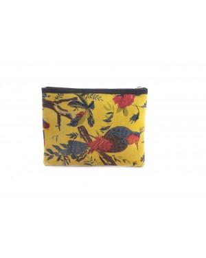 Silky velvet Classics Women's Designer Shoulder Sling bags - Natural Color block print on velvet & Genuine Leather Hard case lining Purse Handbag For modern girls, Designed In Paris, Crafted by Artisans