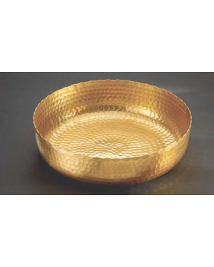 Handscart Vintage house brass aluminium  decorative bowls vintage gold hammered  brass pedestrial centrepiece bowl.