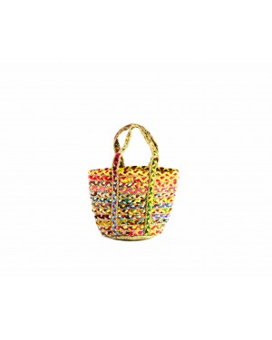 Handscart Handcrafted Boho Design Women's Tote Bags withEcofriendly jute for all purpose.(Jugnoo Tote_Jute )
