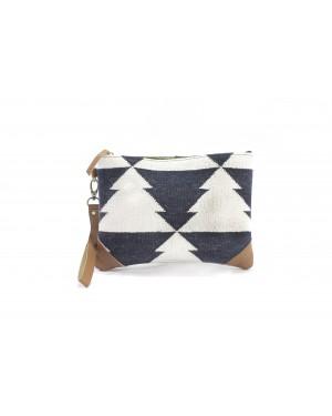 Panja Classics Women's Designer Dhurrie Bag - Natural Color weave Rugs & Genuine Leather Hobo Style Purse Handbag For modern girls, Designe