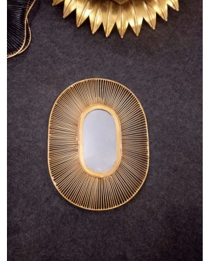 Antique Handcrafted Bathroom Mirrors,Living Room Wall Mirror, Kitchen Wall Mirror Decorative Starburst Mirror,Metal Wall Hanging Mirror, Crafted in Brass, Designed In Italy