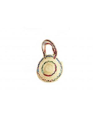 Handscart Summer Round Beach Straw Bags Women Girls Messenger Woven Shoulder Handbags(Ringer Shouder_Jute )