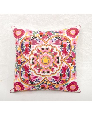 "Designer handcrafted ""la badam"" Decor  Cushion Covers One Piece Cushions Cover (NO FILLER) Vintage  Style Handmade Kantha Designed in Paris, Crafted India."