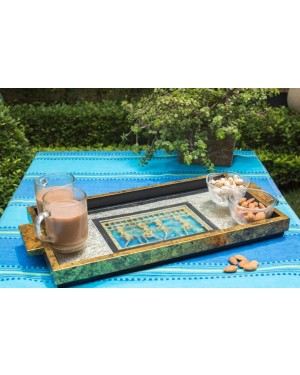 Serving Tray with Gold Leafing