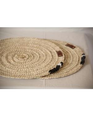 Sosal Crochet designer handcrafted beads baskets with ecofriendly beads mat (set of 2)