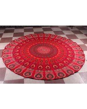 Natural Fabric and bio Dyes Round Beach Tapestry hippie/Boho Mandala Beach Towel Blanket Indian Cotton Bohemian Round Table cloth Mandala Decor/Yoga Mat Meditation Picnic Rugs