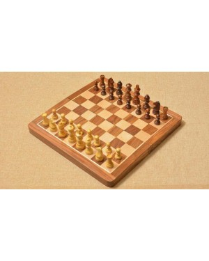 Handmade European Wooden Chess Set with 16 Inch Board and Hand Carved Chess Pieces crafted in India