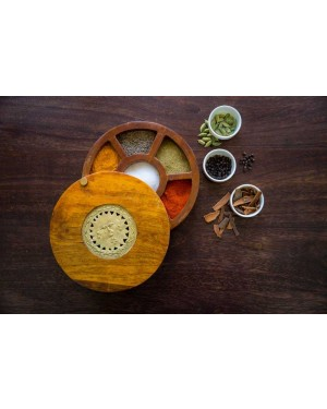 Spice Serveware Box with Dhokra Art