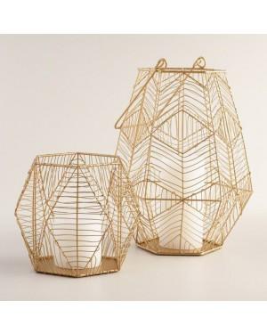 Rustic State Vintage Design Metal Light Cage Guard Decorative Lamp Shade Golden Vintage Design Metal Light Cage Guard Decorative Lamp Shade