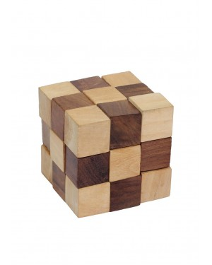Handcrafted Brain Teaser Cube Puzzle toy for all