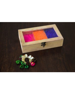 Pine Wooden Box With Partition