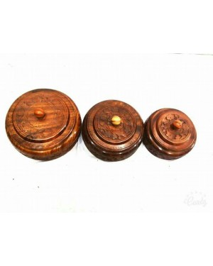 Ecofriendly Bamboo Classic Wooden handcrafted Casrole Board/Serving Bowl with lid , with Bamboo and  crafted by natural woods.