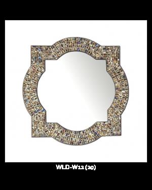 Bedroom or Bathroom Hexanol frame Hangs Horizontal & Vertical  By Vintage Hammered Craft. (Only Frame)