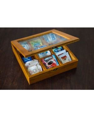Tea Box With Nine Compartments