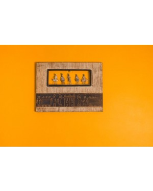 Wooden Frame with Figurines