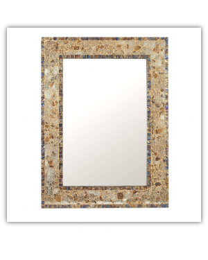 Bedroom or Bathroom Rectangular frame Hangs Horizontal & Vertical  By Vintage Hammered Craft. (Only Frame)
