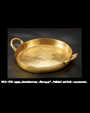 Handscart Vintage house brass aluminium  decorative bowls vintage gold hammered  brass pedestrial centrepiece bowl.