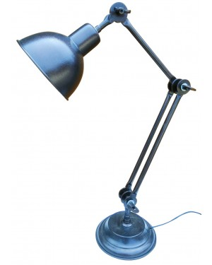 Handcrafted Assembled Desk Lamp, Table Lamp,  Classic Architect made by Rough Iron by  150 years old hammered craftsmanship,  No welding, Purely sustainable way of Iron lamp.