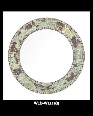 Bedroom or Bathroom Round frame Hangs Horizontal & Vertical  By Vintage Hammered Craft. (Only Frame)