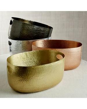 Handscart Vintage house brass aluminium  decorative bowls vintage gold hammered  brass pedestrial centrepiece bowl. Set of 3