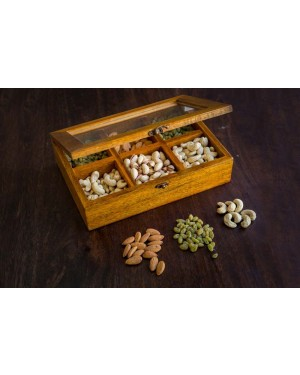 Dry Fruit Box With Six Compartments