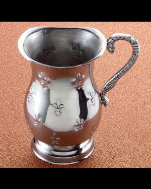 Handscart Vintage house aluminium  decorative bowls vintage silver hammered  brass pedestrial centrepiece bowl.