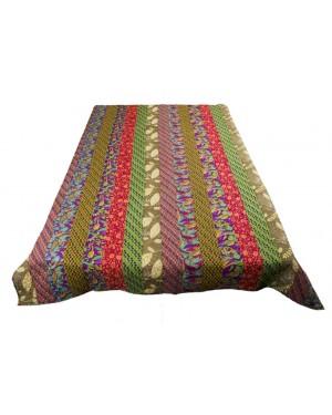 Designer Handcrafted Handmade Quilt,  Bohemian Bedding, Throw Blankets, Indian Bedcover,  Cotton Kantha Bedding, Vintage Kantha Quilt, Single Bed