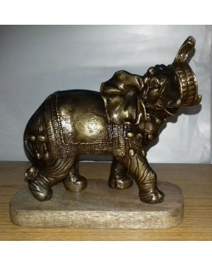 Rustic Iron Hammered Resting  Elephant Figurine, Rust Rought Iron  6 x 12.5 x 13.75 Inches