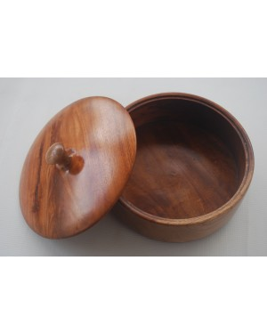 Ecofriendly Bamboo Classic Wooden handcrafted Bowl with lid  Board/Serving Platter, with Bamboo and  crafted by natural woods.